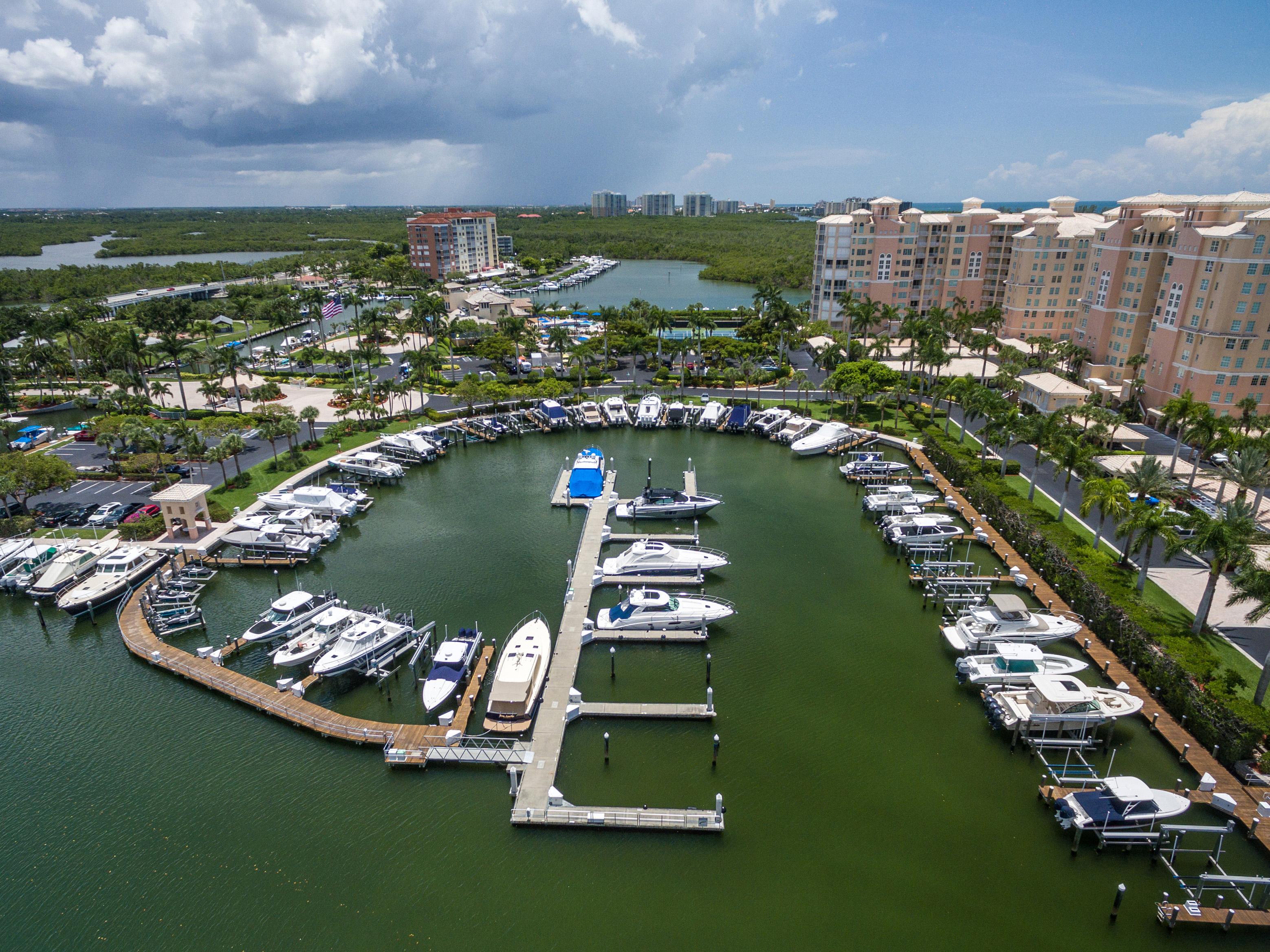 Marina At Pelican Isle Yacht Club Naples Fl Boat Slips Storage Private Island Club In Southwest Florida